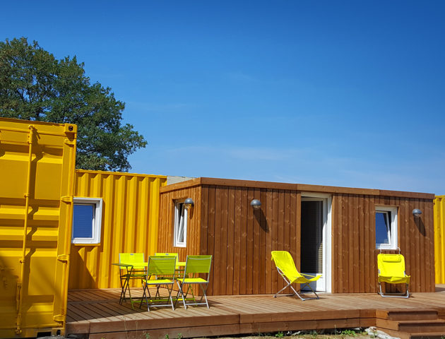 Container jaune soleil